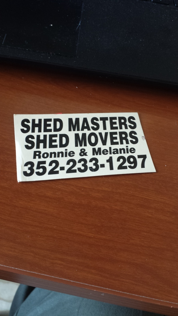 Shed masters